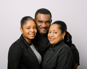 LeKeisha, Mark and Beryl Ralston